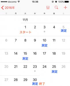 置き換えカレンダー